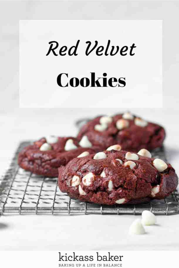 Red Velvet Cookies pin for Pinterest