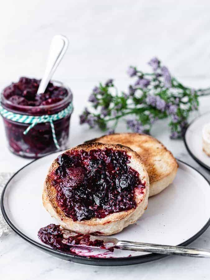 Homemade Sourdough English Muffins   kickassbaker.com #homemade #englishmuffin #englishmuffins #sourdough #howto #easyrecipe #kingarthurflour #breakfast #nutfree #peanutfree #morning