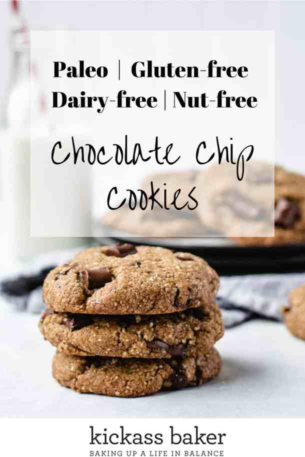 paleo chocolate chip cookies pin for Pinterest