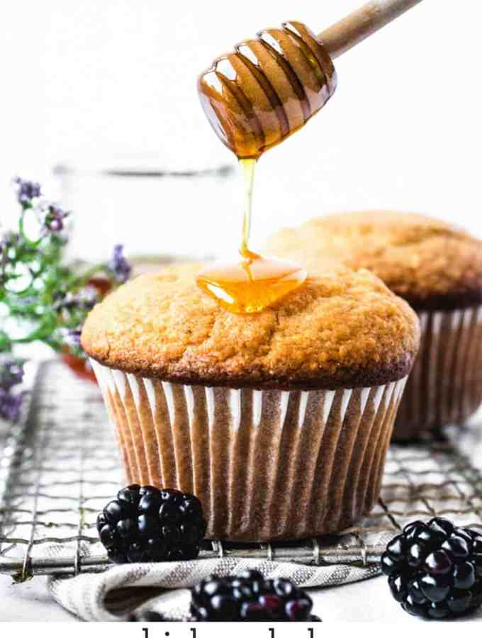 Honey Corn Muffins | kickassbaker.com pin for Pinterest