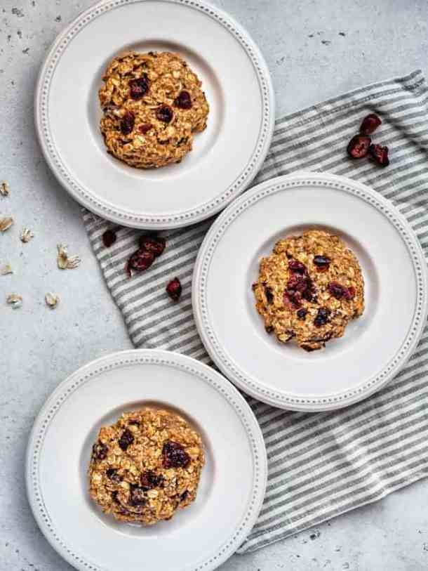 gluten-free breakfast cookies on white plates