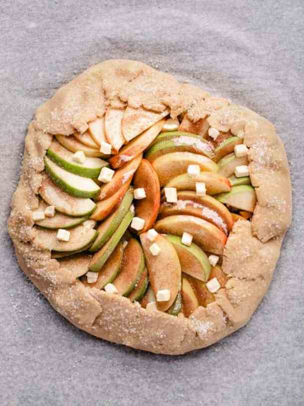 Maple Apple Galette ready to be baked