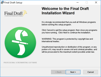 Final Draft 11 Serial Key