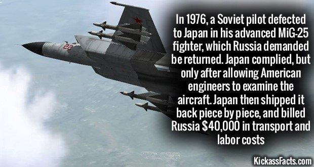 1178 MiG-25 fighter