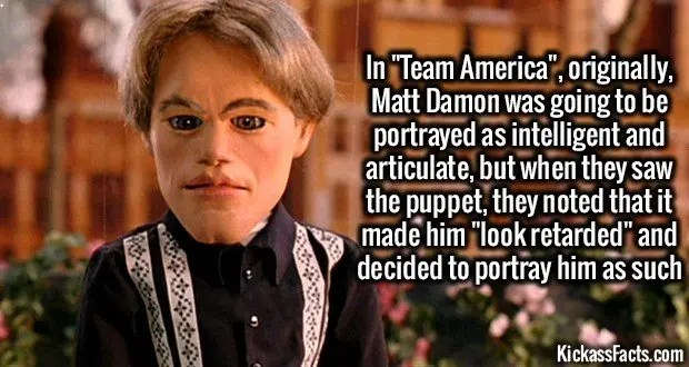 1286 Team America Matt Damon