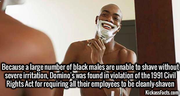 1376 Black Male Shaving Beard