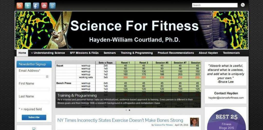 Science for Fitness