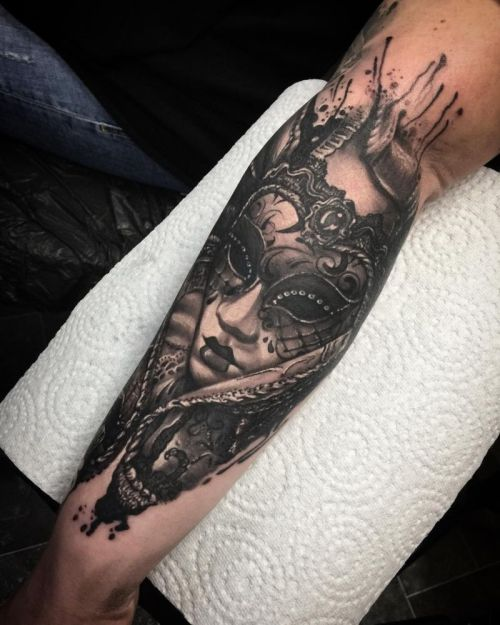 venetian mask tattoos