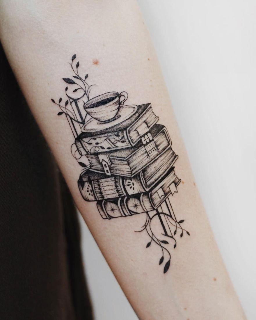 Aweinspiring Book Tattoos For Literature Lovers Kickass