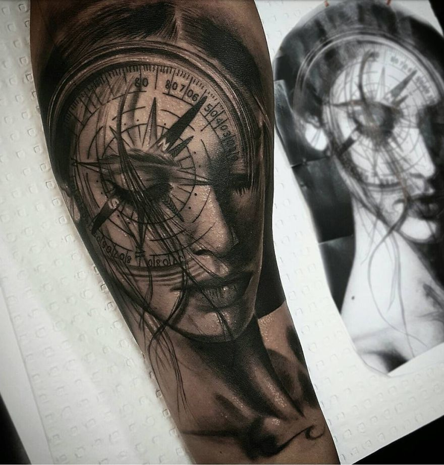 Realistic Tattoos with Morphing Effects by Benji
