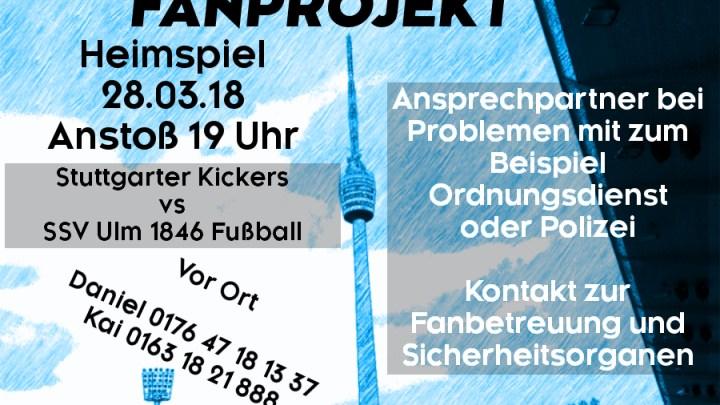 Heimspiel am Mittwoch, 28.03.2018, um 19 Uhr gegen SSV Ulm 1846 Fußball