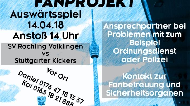 Auswärtsspiel am Samstag, 14.04.2018, um 14 Uhr gegen SV Röchling Völklingen