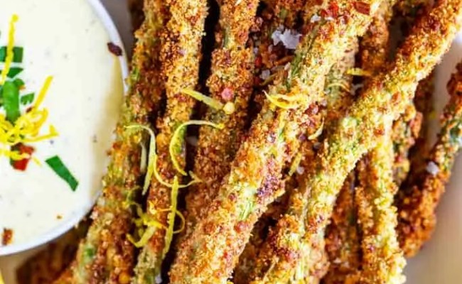 Keto Asparagus Fries Air Fryer Or Baked Kicking Carbs