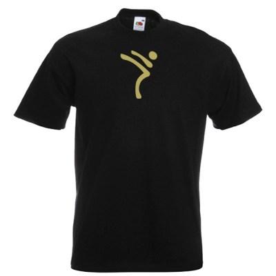 Kicking Man Taekwondo gold-on-BLACK-1Ra