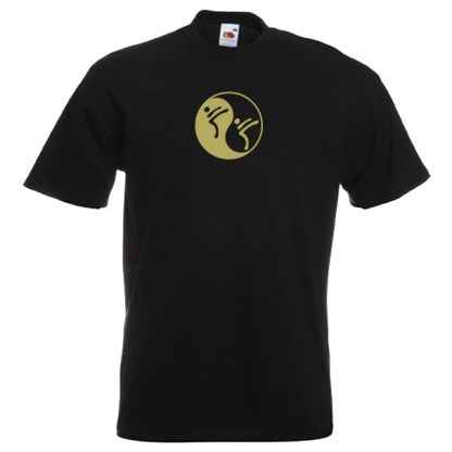 Yin Yang Martial Art T-Shirt-Gold-BLACK-7R