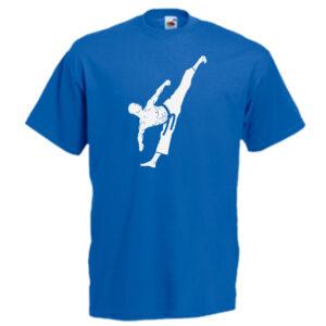 Male Colour Belts 1C-white-on-blue-Tshirts