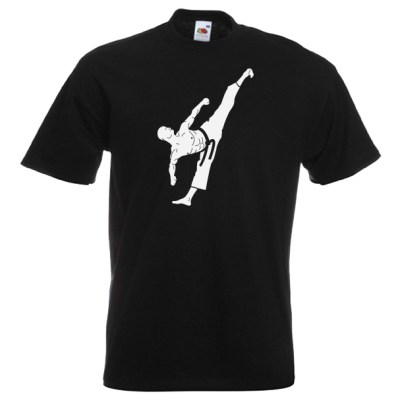 Martial Artist T-Shirt white on black