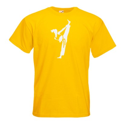Yellow Female Colour Belts 4C-white-on-yellow-Tshirts