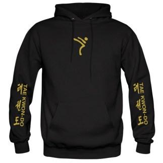ITF-tkd-gold-on-black-hoodies-front