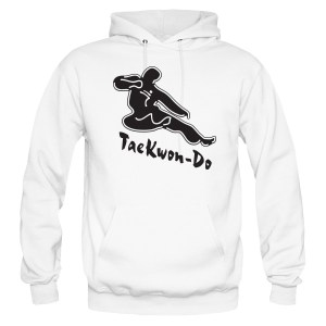 Flying Kicking Man Hoodie