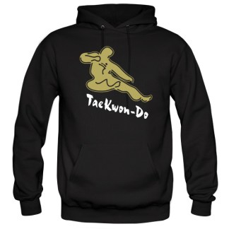 flying kicking man hoodie