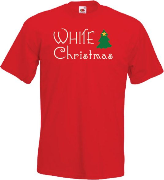 White-Christmas-on-RED-T-shirt