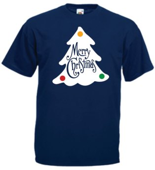 christmas-tree-on-blue-t-shirt
