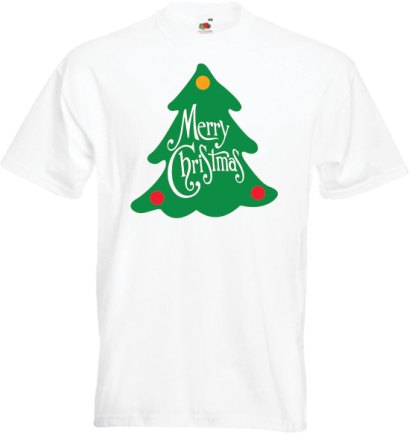 christmas-tree-on-white-t-shirt