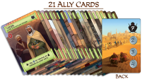Ally Cards. Photo Credit Merchants of Araby Kickstarter campaign page
