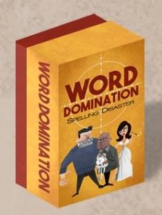 Game box. Photo Credit: Word Domination Kickstarter camapign