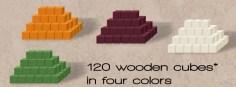 Wooden cubes. Photo Credit: Word Domination Kickstarter camapign