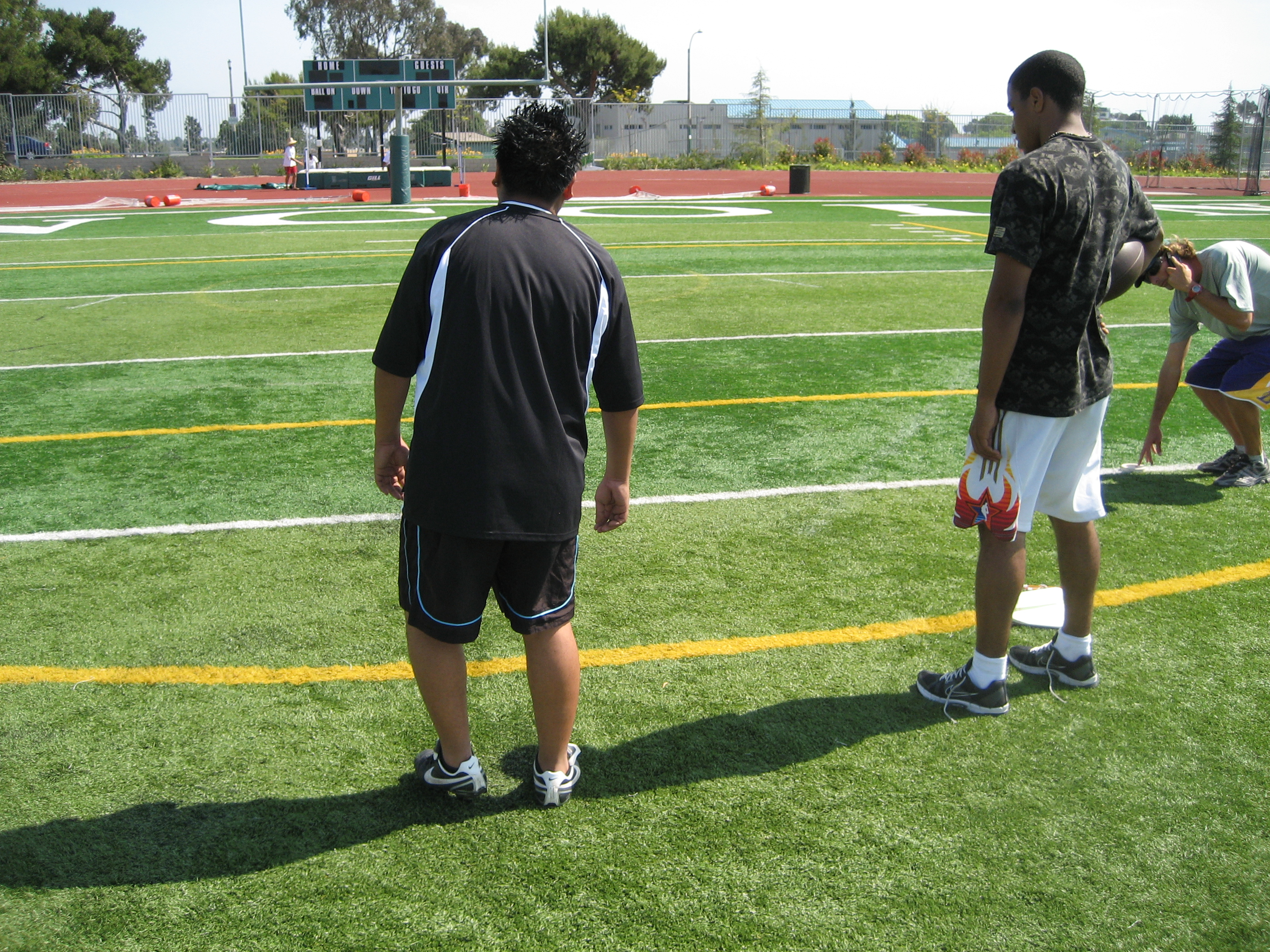Coach Riam with Jair at Lincoln H.S.
