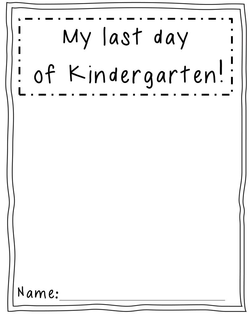First Day Activities in Kindergarten