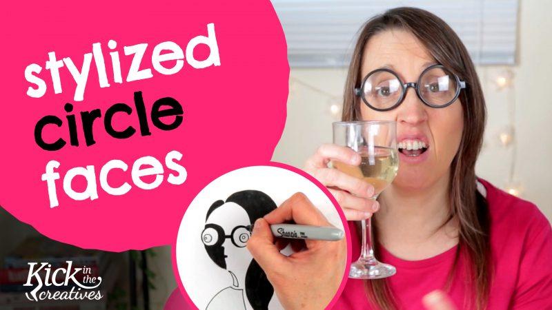 Art Kick Sunday – How to Draw a Stylized Circle Face
