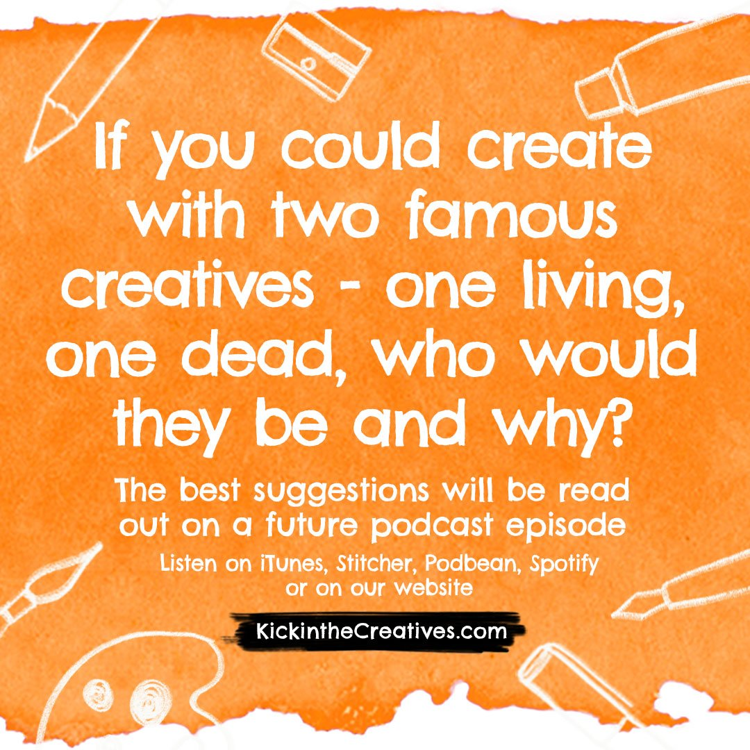 This week's creative podcast question