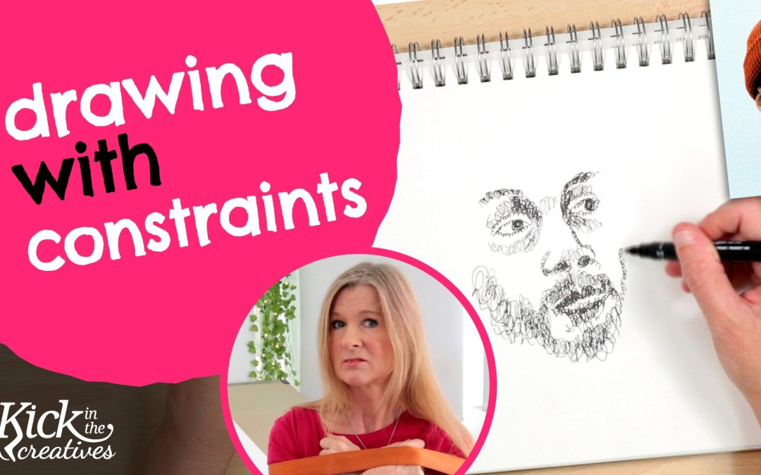 Drawing with Constraints Using A Scribble Sketch Technique – Art Kick Sunday