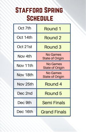 2020 Stafford Schedule