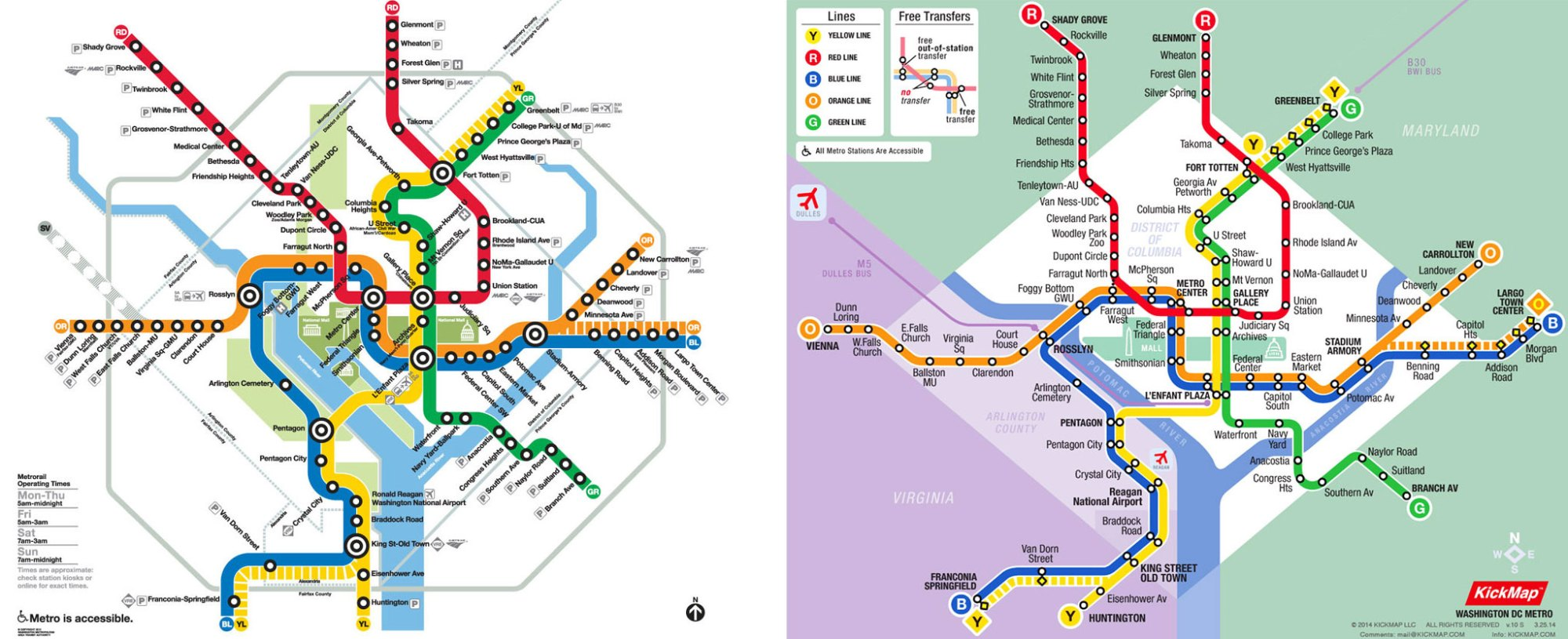 hight resolution of kickmap dc metro zoomed out more accurate simple and easy to read