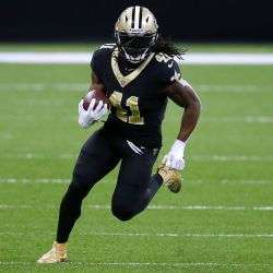 Alvin Kamara, running back do New Orleans Saints. Créditos: Jonathan Bachman/Getty Images