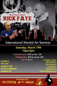 Rick Faye seminar best way to spend your martial arts dollar