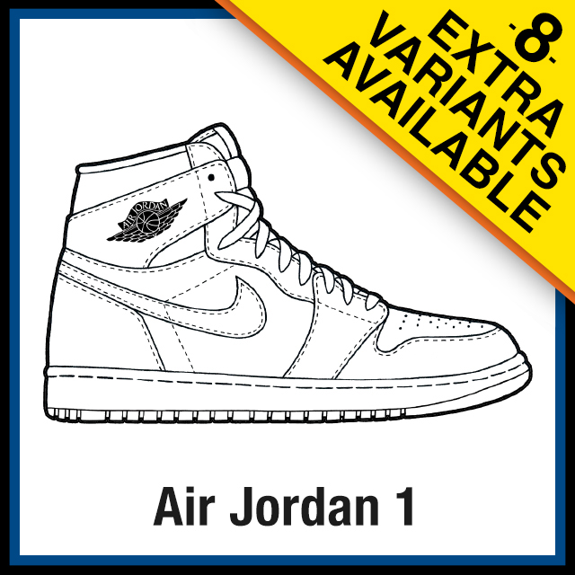 Air Jordan 1 Coloring Pages Sneaker Coloring Pages Created By Kicksart