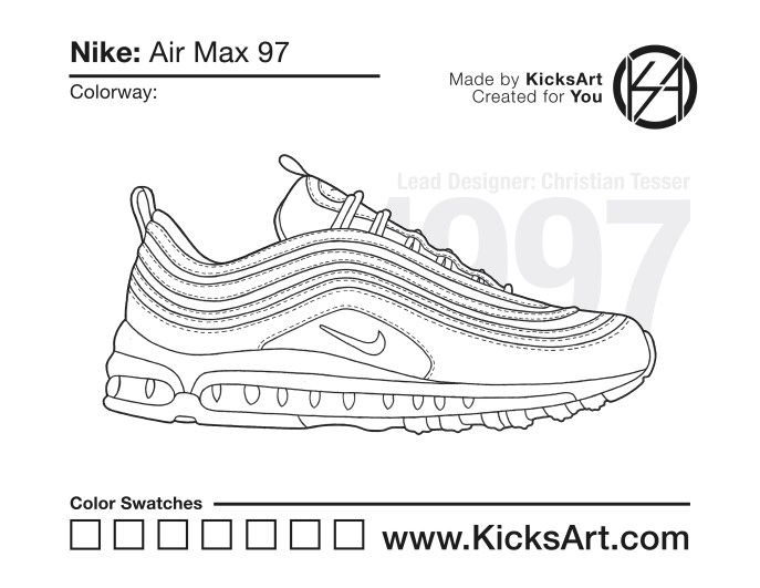 timeless design 7ae55 d6fc0 Nike Air Max 97 Stencil