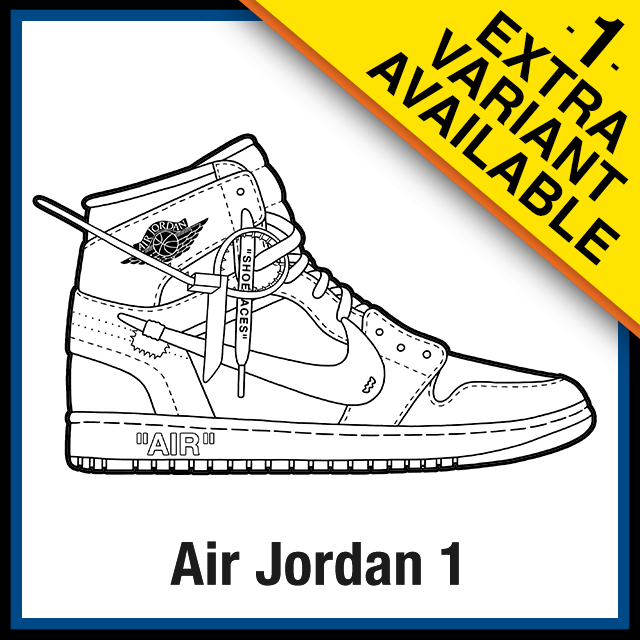 Air Jordan 1 Off White Coloring Pages Kicksart