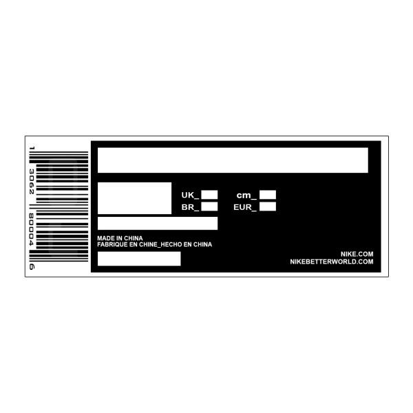 Sneaker Box Label Template Sneaker Shoes