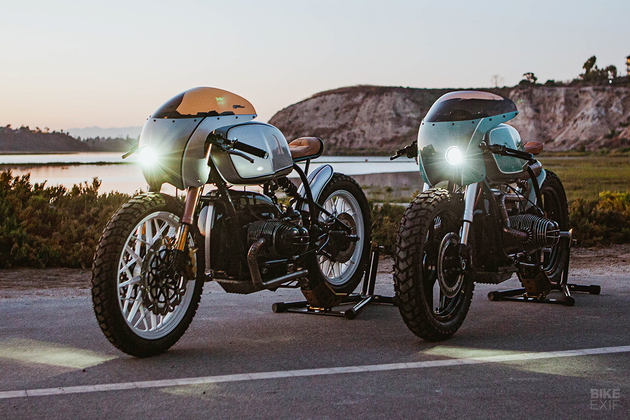 Boxer Twins A Pair Of Bmw R100 Caf Racers From Upcycle