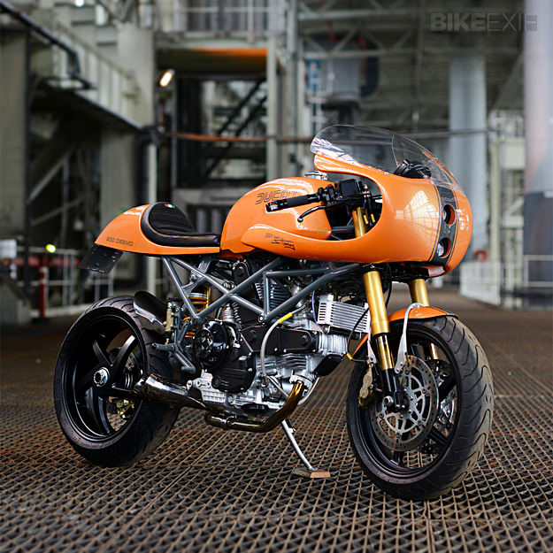 ducati ducafe monster custom by red max speed shop gear x head. Black Bedroom Furniture Sets. Home Design Ideas