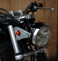 bring the headlight back closer to the forks with shorter stays get mini gauges that can be tucked in tight and shorten the seat a few inches  [ 1200 x 1200 Pixel ]