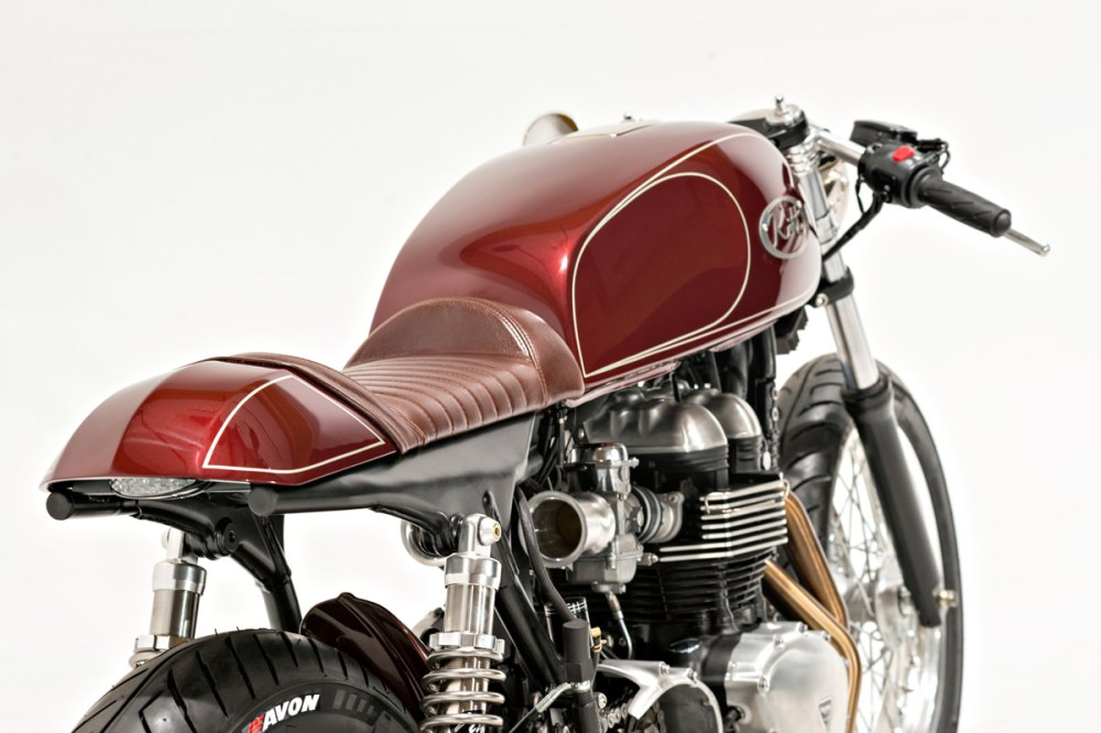 medium resolution of dustin wanted to fit a vintage japanese tank to the triumph and settled on a late model yamaha xs1100 unit some may feel that fitting a japanese tank to
