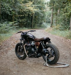 triumph has done a sterling job in creating a production motorcycle with heart but oem decided to push it further they also wanted a slight nod to steve  [ 1250 x 1250 Pixel ]