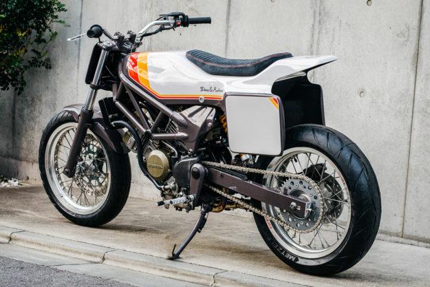 Custom Honda VTR250 with a tracker vibe by Deus Japan